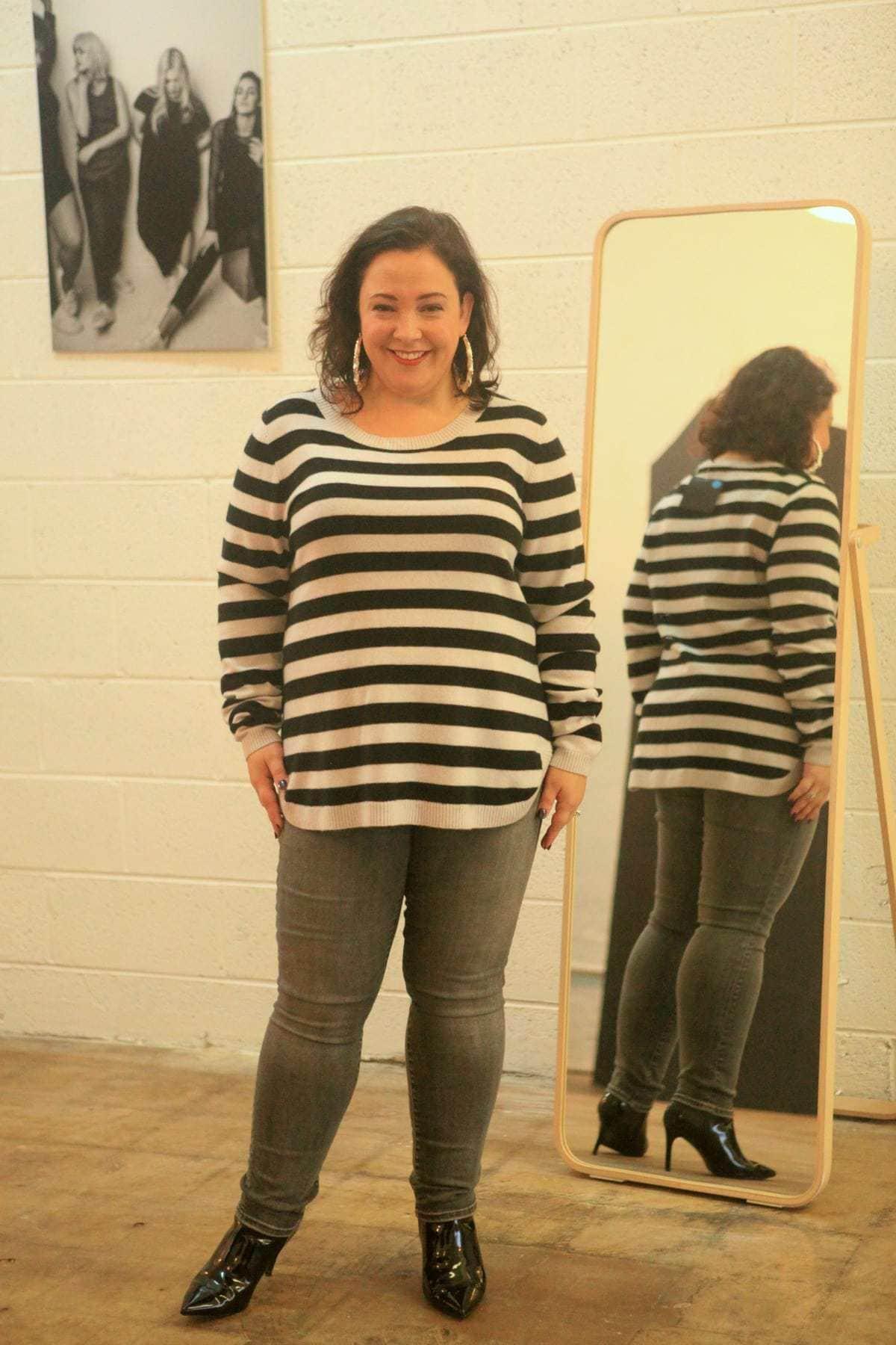 universal standard raquette cashmere sweater