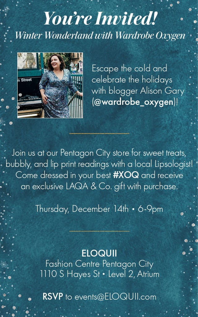 Alison Gary hosted the ELOQUII holiday party at their DC store 2017