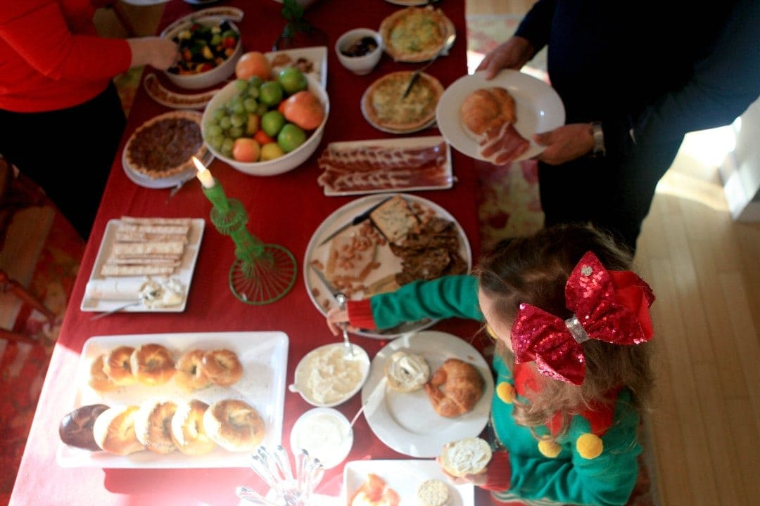 hosting a christmas brunch with FreshDirect DC