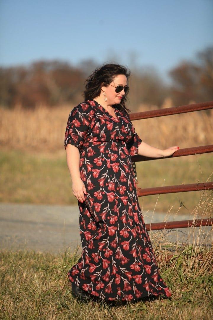 Gwynnie Bee floral maxi dress on Wardrobe Oxygen