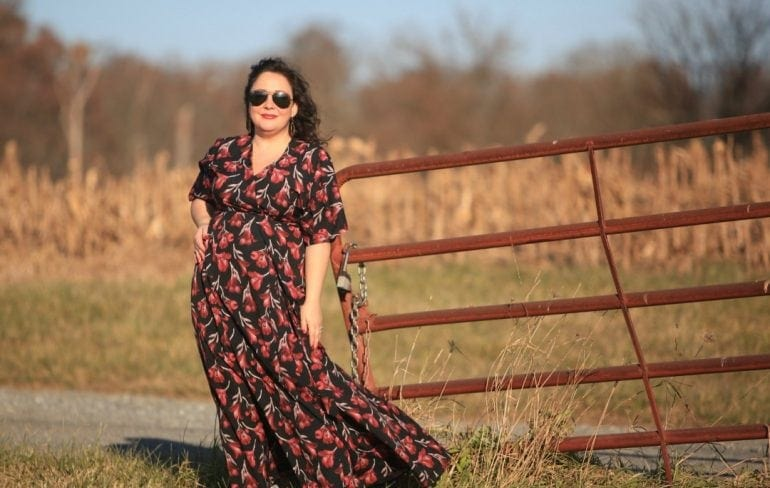 Gwynnie Bee floral maxi dress on Wardrobe Oxygen