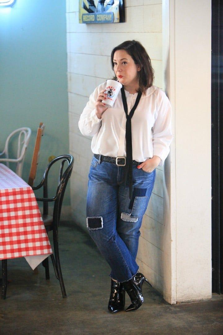 cabi blouse on wardrobe