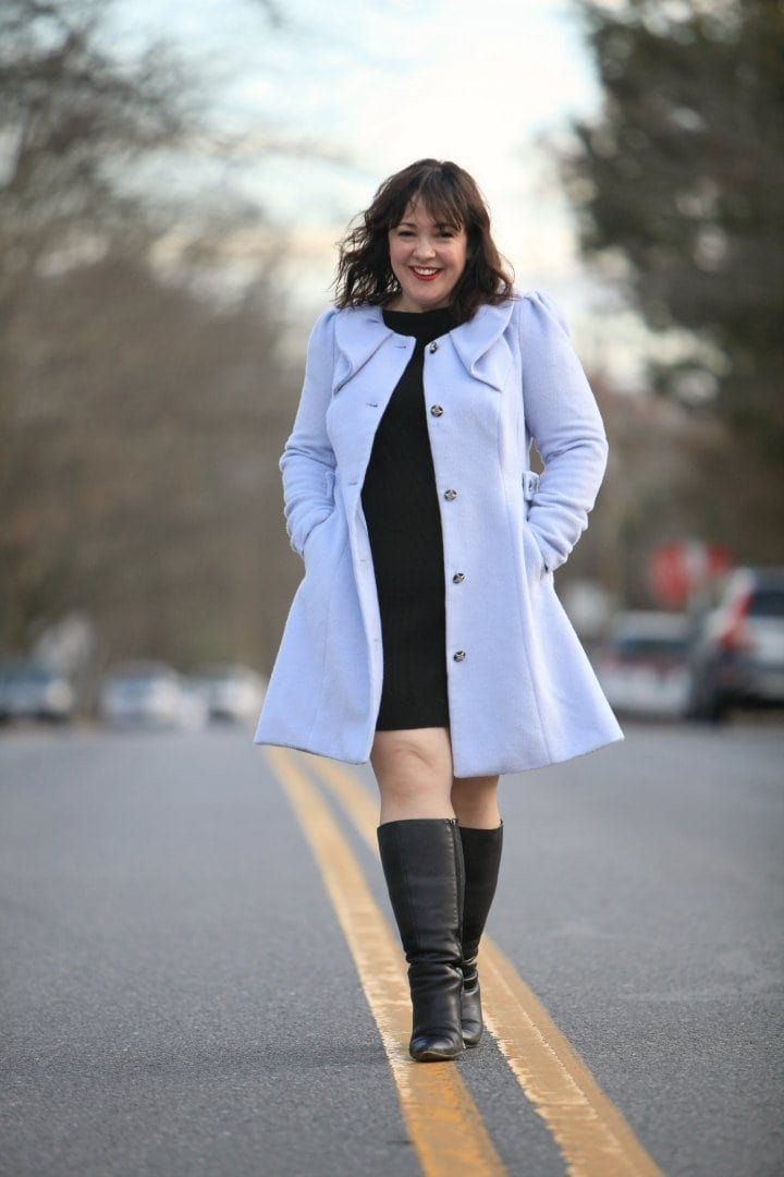 citychic fit and flare coat