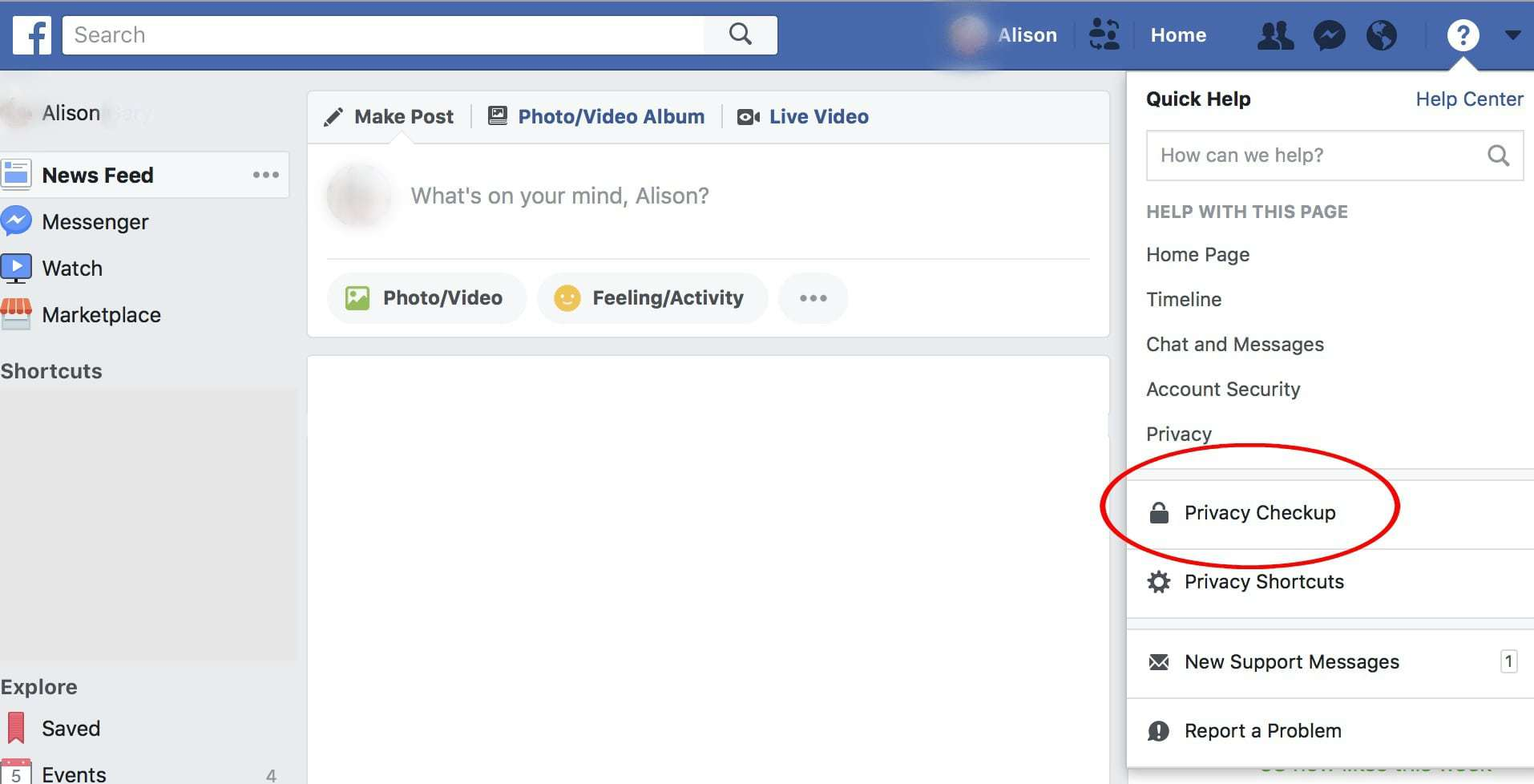 how to perform a facebook privacy checkup