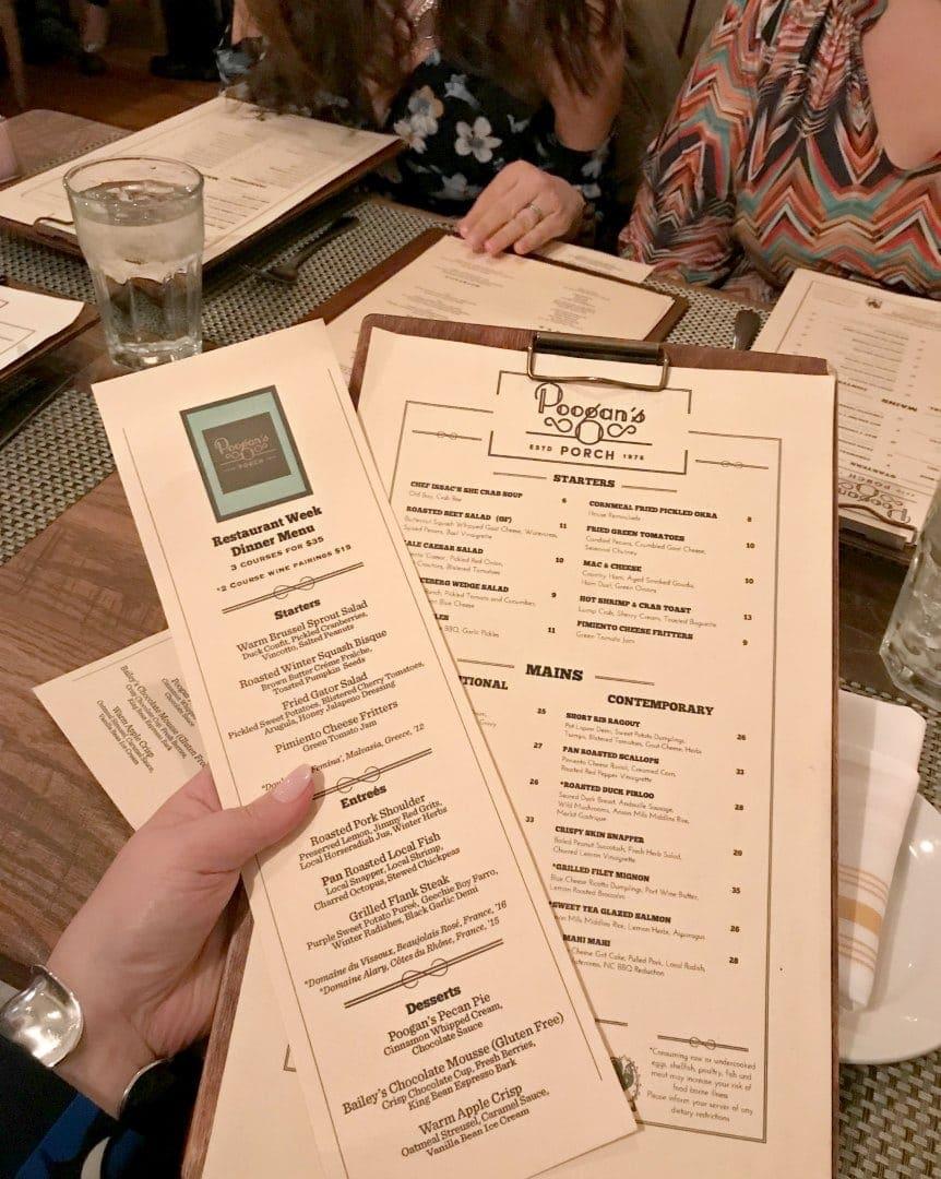 poogans porch menu