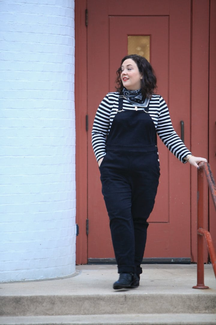 universal standard overalls wardrobe