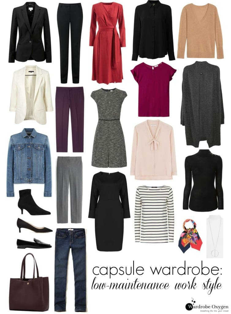 capusle wardrobe work low maintenance