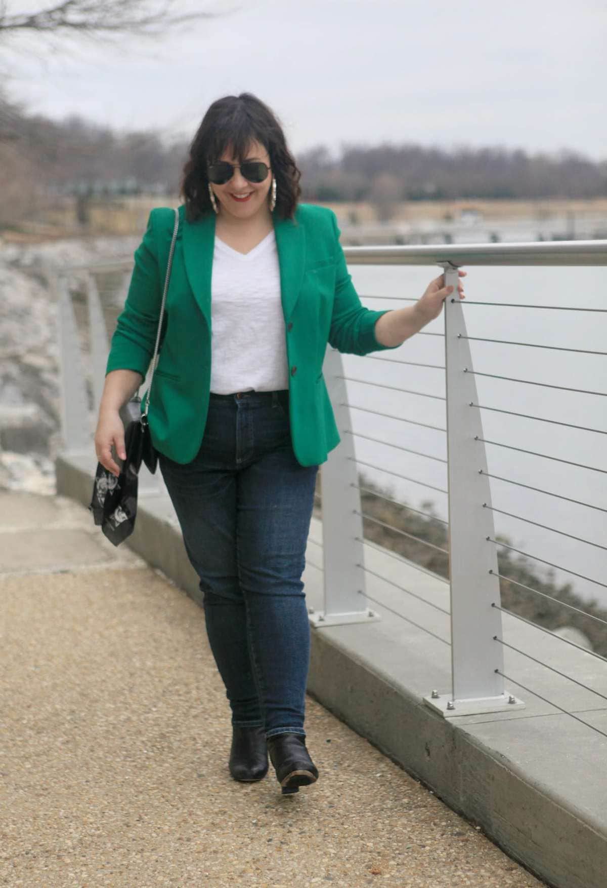 green ponte blazer boden