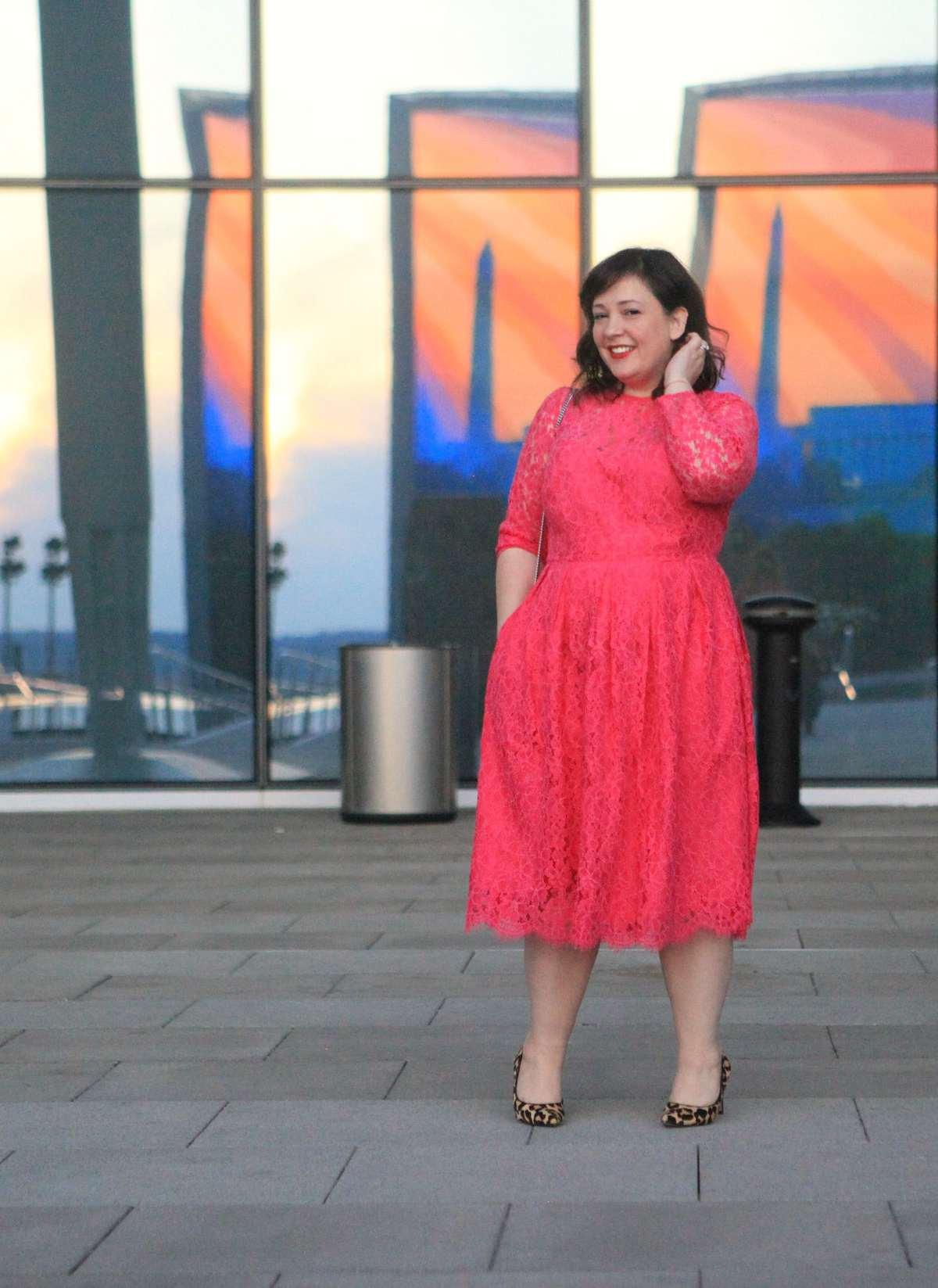 pink lace dress eloquii