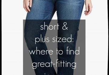 Where to buy jeans when you're short and plus size?