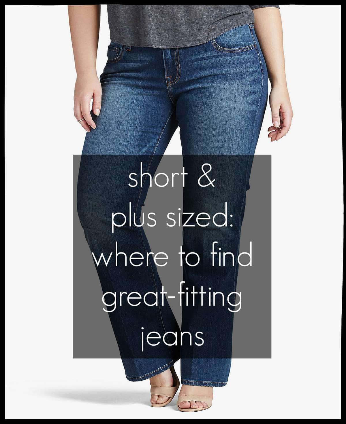 short plus size best jeans