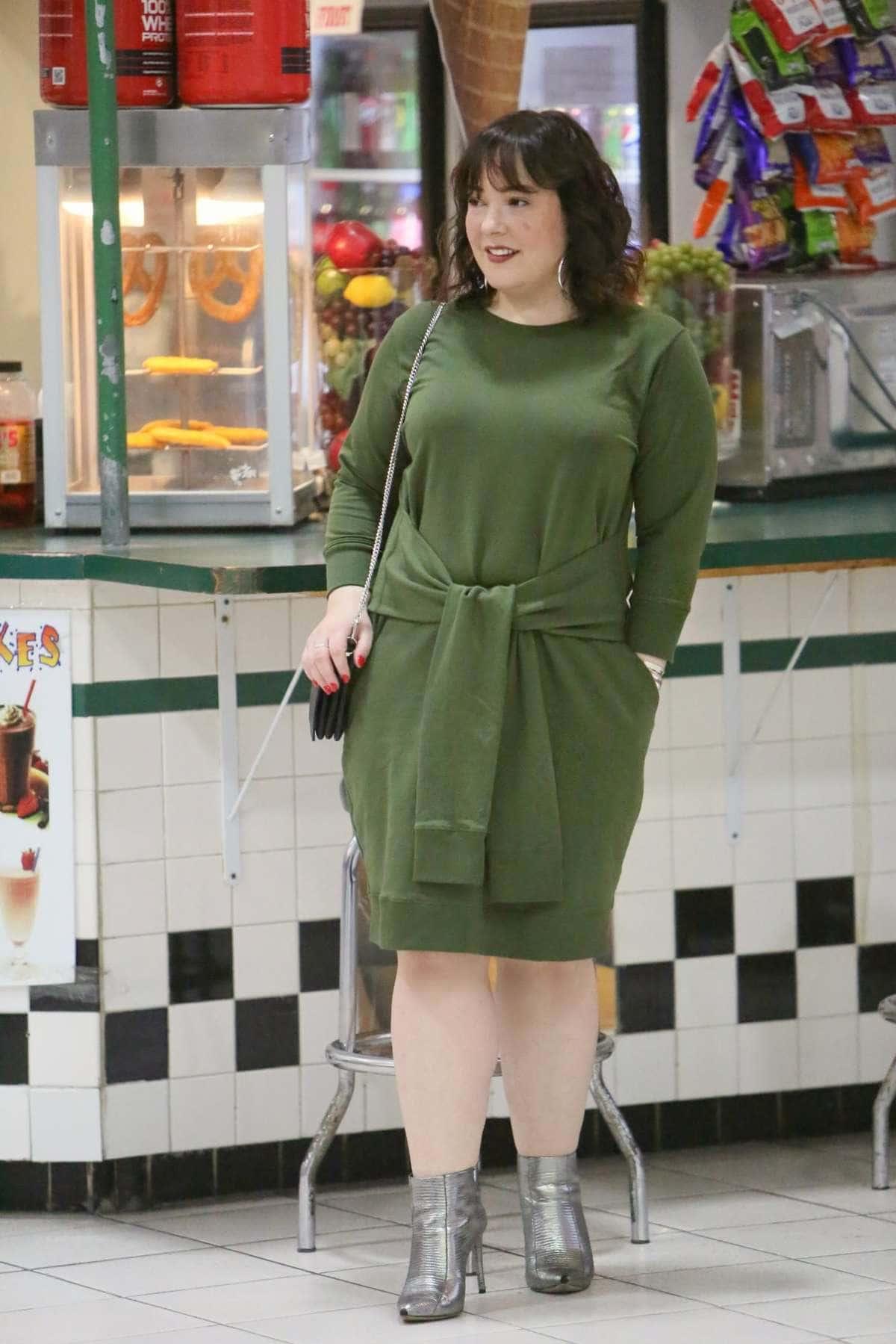 universal standard green dress