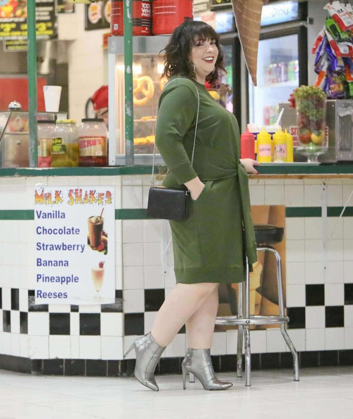 universal standard misa dress green