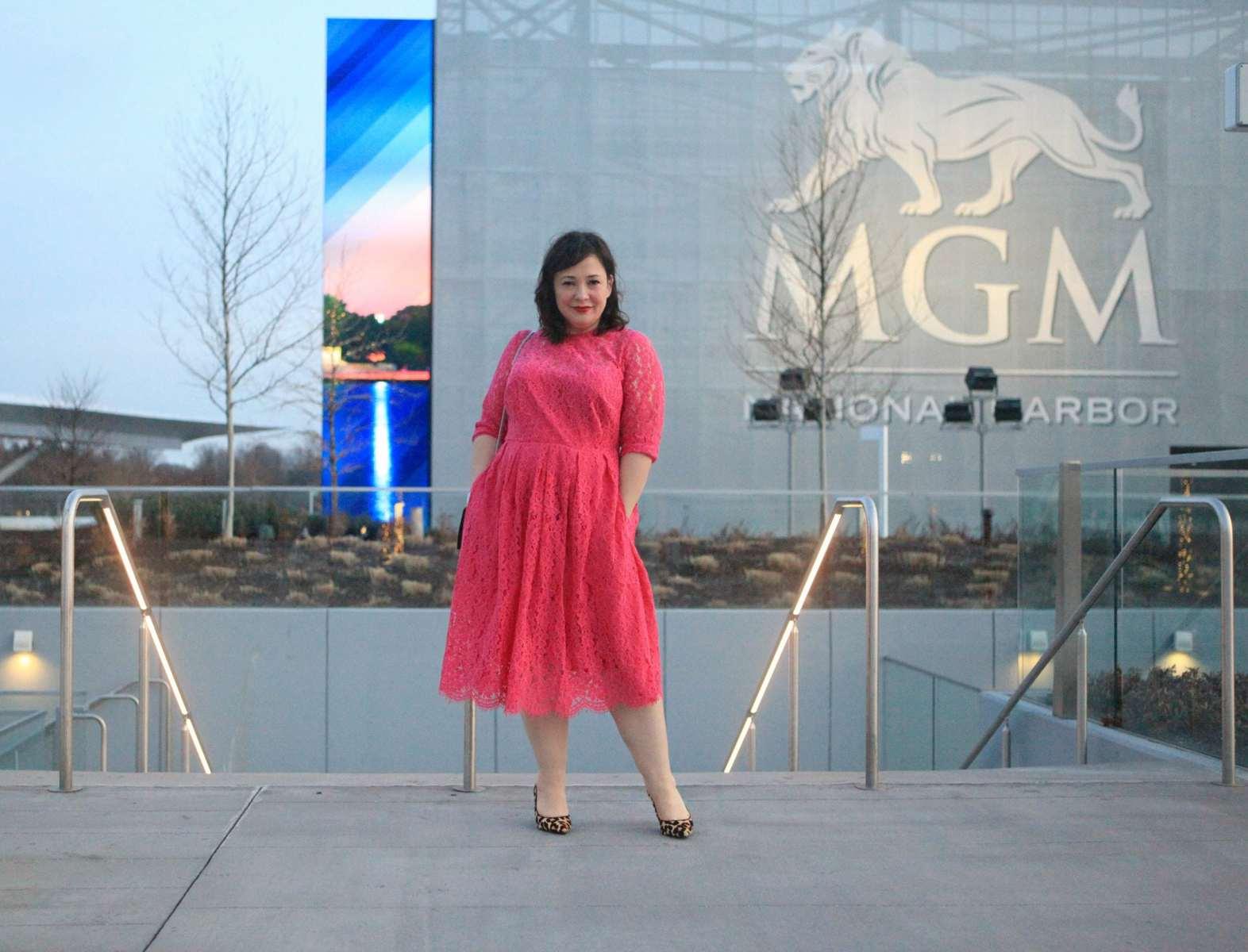 wardrobe oxygen eloquii pink dress
