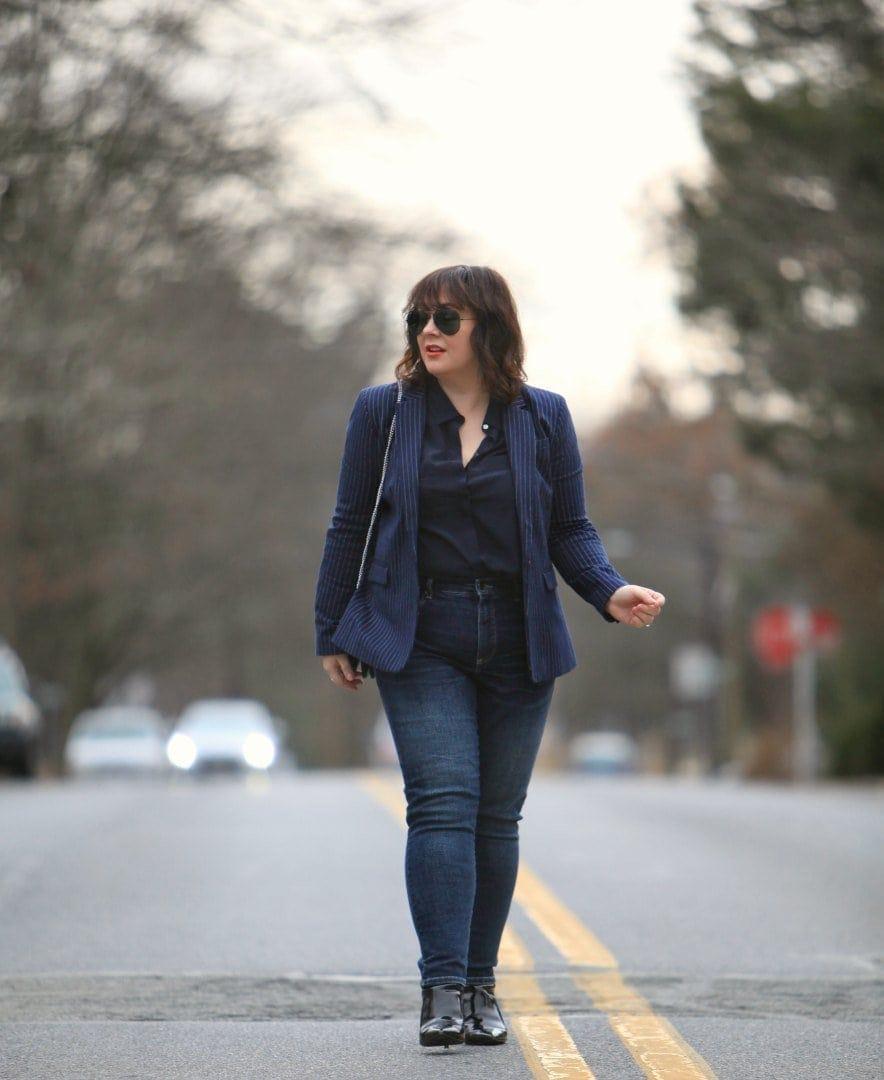 wardrobe oxygen in universal standard jeans