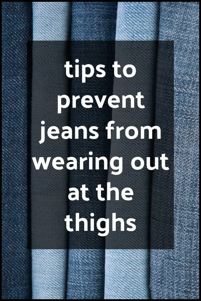 How to Prevent Jeans from Wearing Out in the inner Thighs featured by popular DC curvy fashion blogger, Wardrobe Oxygen