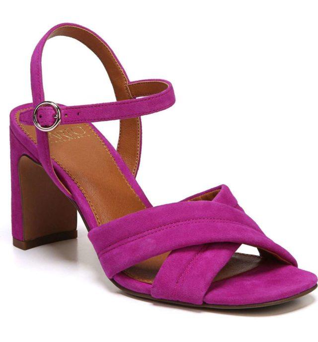 SARTO Franco Sarto suede heeled sandal in wild violet
