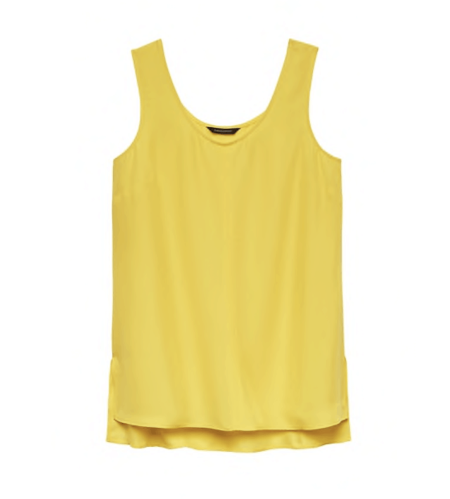 banana republic hi low tank in yellow glow