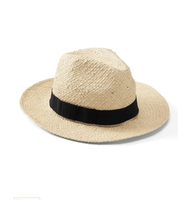 banana republic packable raffia hat