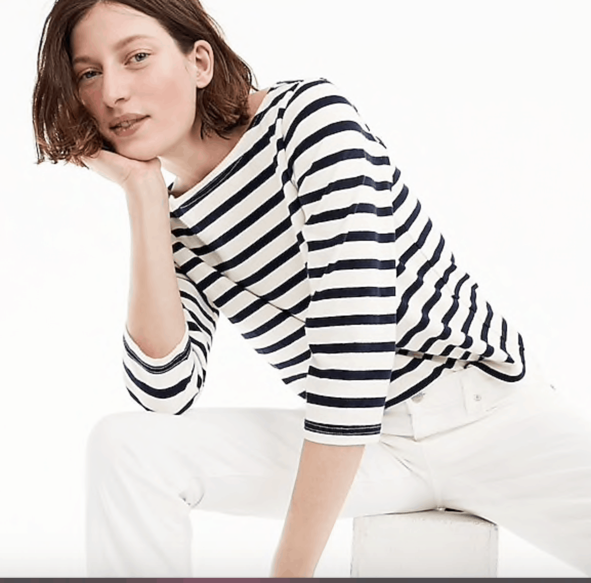 J. Crew Classic fitted striped tee