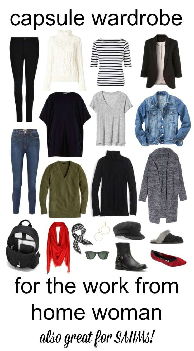 capsule wardrobe for the work from home woman and SAHMs