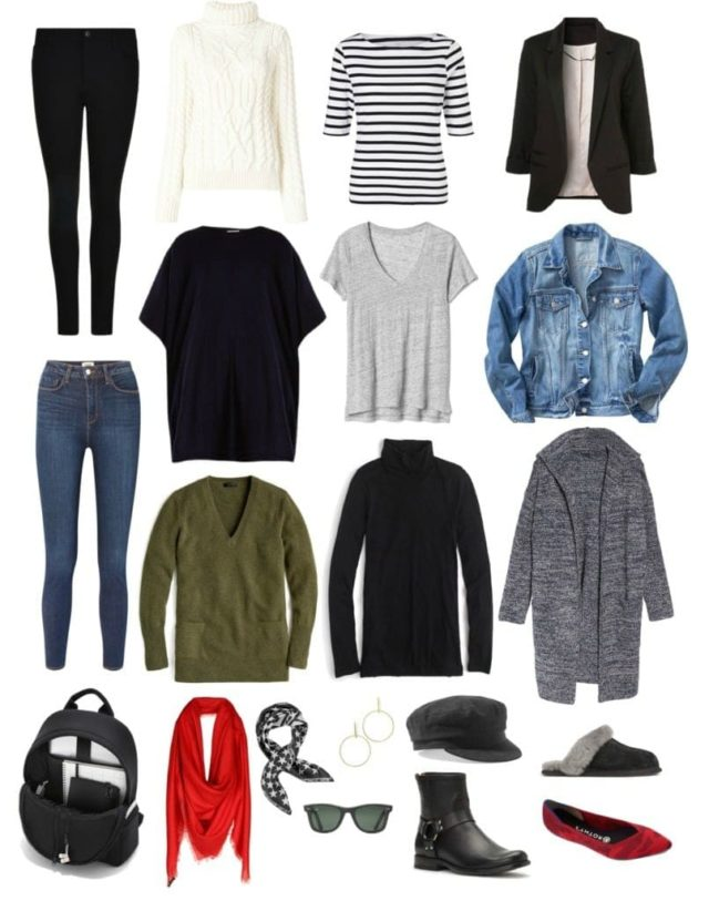 capsule wardrobe for working from home or for stay at home moms