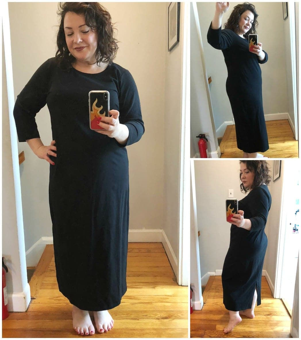 ellos knit midi dress