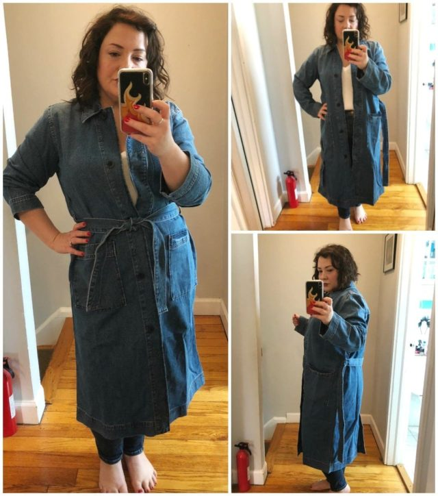madewell denim trench review