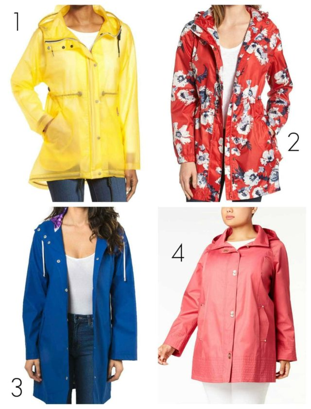 the best colorful raincoats for women for spring