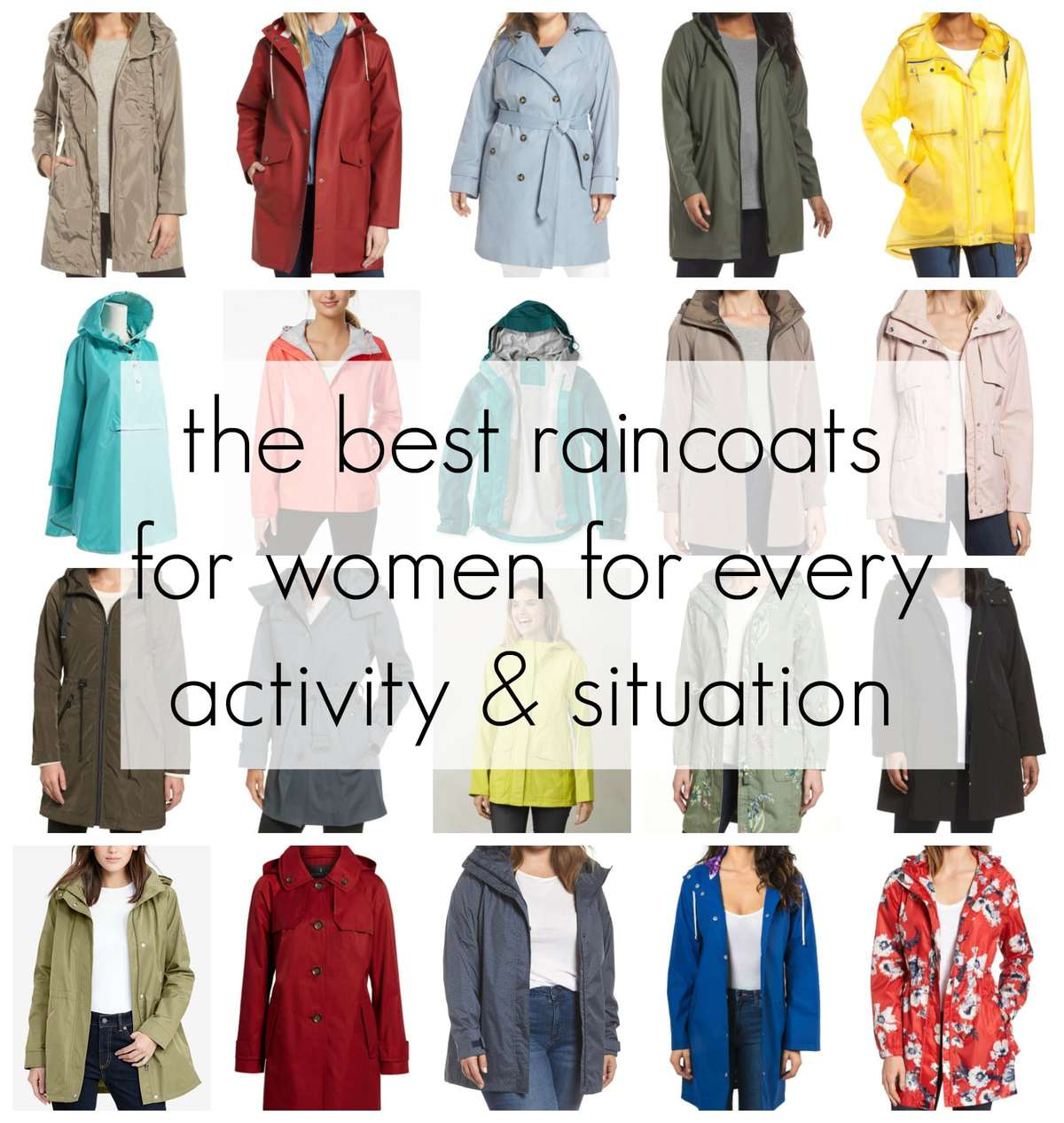the best raincoats for women for every activity and situation picks by wardrobe oxygen