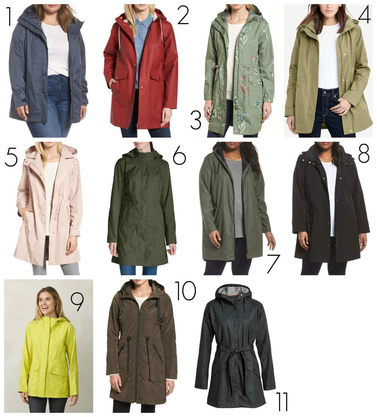the best raincoats for women in regular and plus sizes