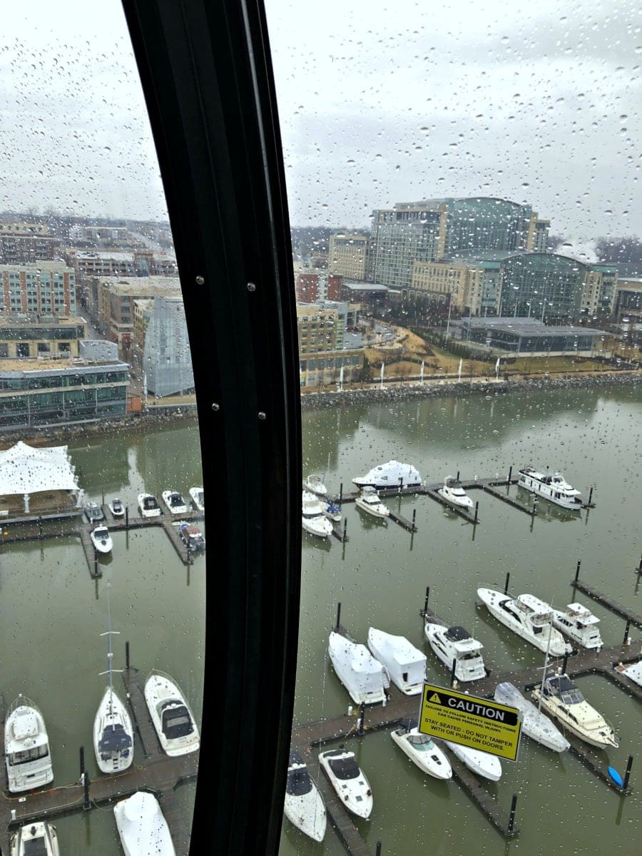 view from the capital wheel national harbor