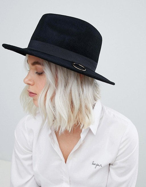 ASOS felt fedora with ring detail