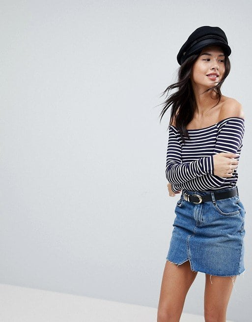 ASOS Off Shoulder Stripe Top