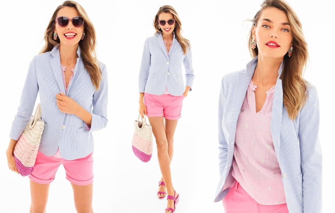 Talbots seersucker blazer summer 2018 - Friends & Family Talbots Sale featured by popular Washington DC petite fashion blogger, Wardrobe Oxygen