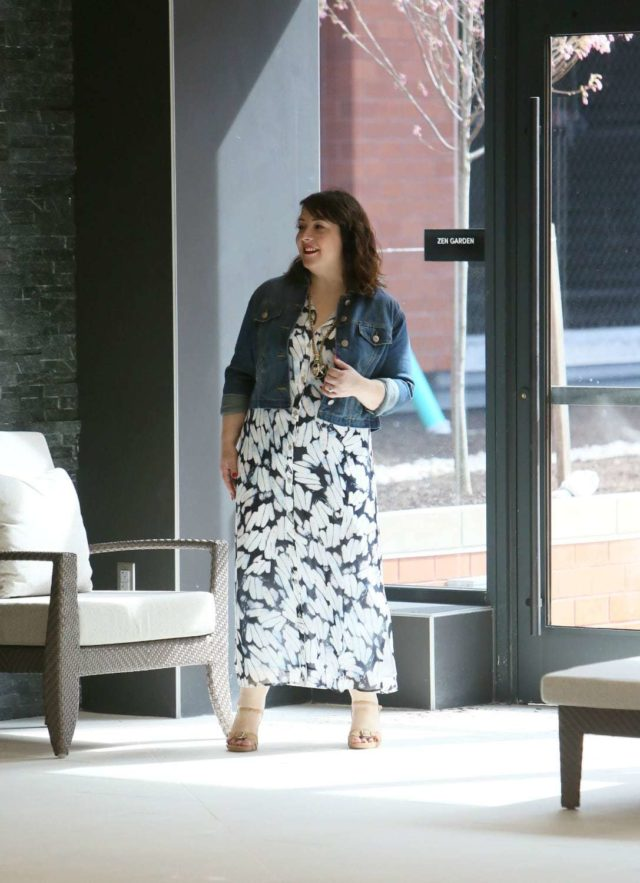 Wardrobe Oxygen in the cabi Spring 2018 Shirt Dress and Dakota Jacket