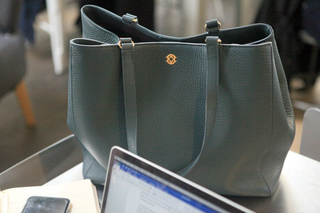 A review of the Dagne Dover Allyn Tote and how it compares to the Legend Tote - Dagne Dover Tote Legend vs Allyn review featured by popular Washington DC fashion blogger, Wardrobe Oxygen