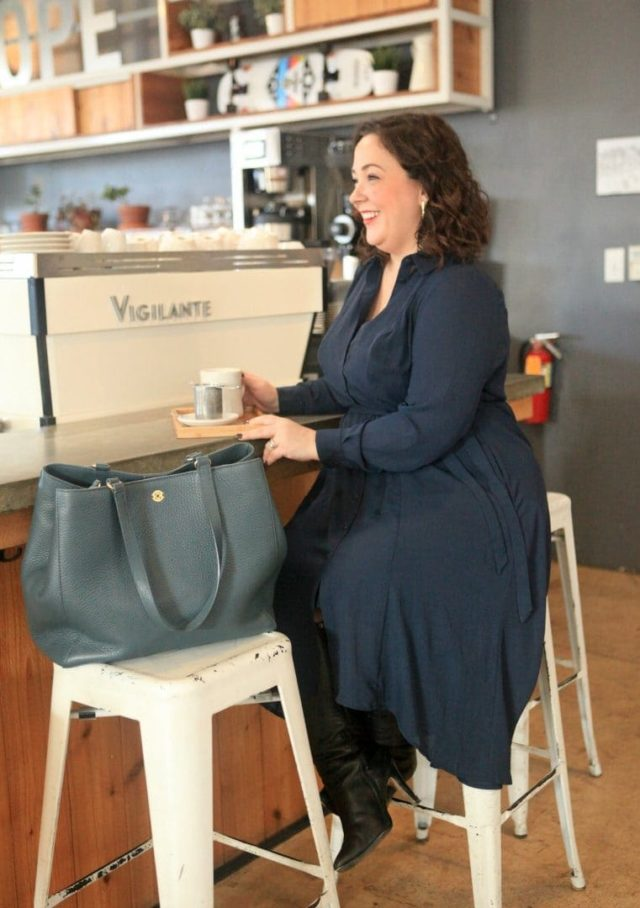A review of the Dagne Dover Allyn Tote by Wardrobe Oxygen - Dagne Dover Tote Legend vs Allyn review featured by popular Washington DC fashion blogger, Wardrobe Oxygen