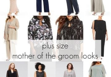 Non-Girly Plus Size Mother of the Groom Fashion for a Summer Outdoor Wedding