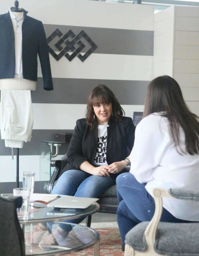 A review of my experience with Trunk Club when I used their DC Clubhouse styling - DC trunk Club Clubhouse featured by popular Washington DC petite fashion blogger, Wardrobe Oxygen