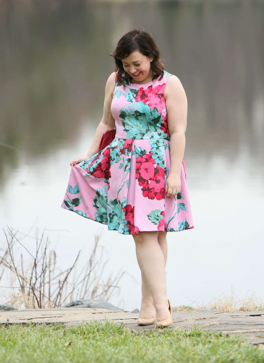 pink floral taylor dress gwynnie bee