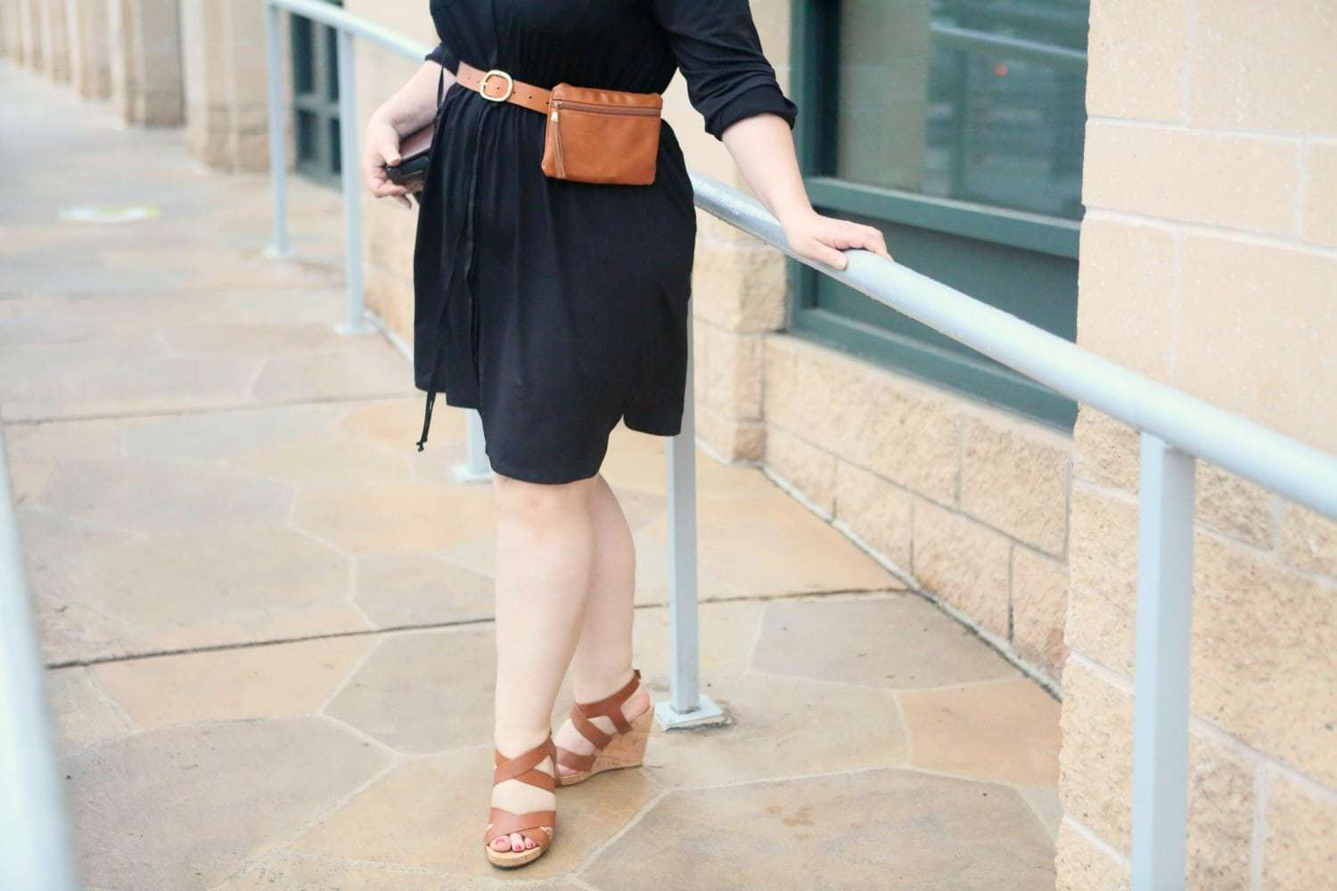 The return of the belt bag and how to style it when you are over 40 - Summer Travel Style with Macy's x NY Collection featured by popular Washington DC petite fashion blogger, Wardrobe Oxygen