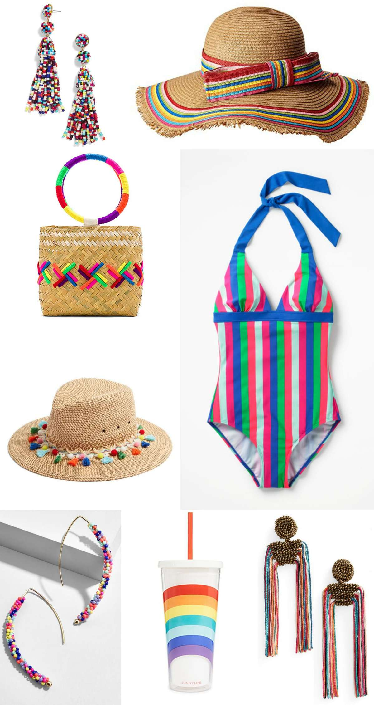 The rainbow fashion trend for 2018 - incorporate it into your wardrobe with a handbag full of color and high on style featured by popular DC petite fashion blogger, Wardrobe Oxygen