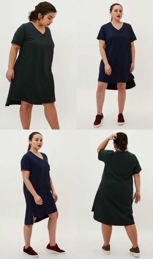 universal standard petites tesino washed dress review - universal standard petites featured by popular Washington DC petite fashion blogger, Wardrobe Oxygen