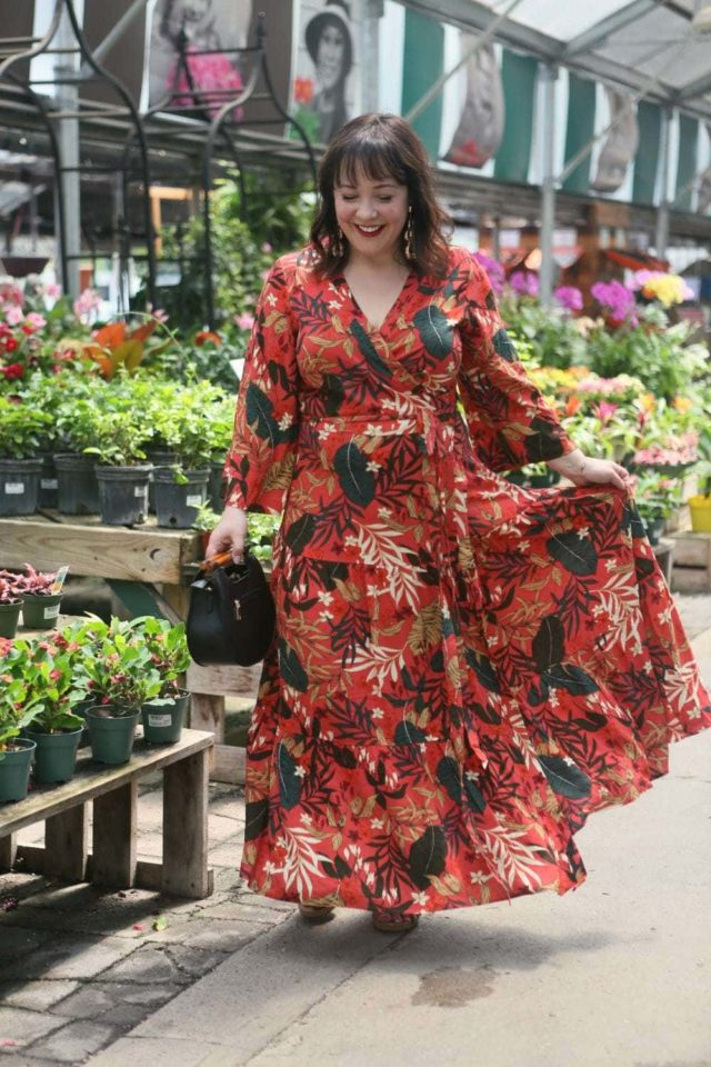 eloquii floral maxi dress
