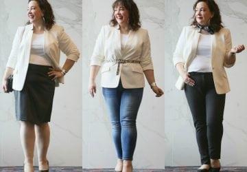 Real Life Capsule Wardrobe: The Ivory Blazer
