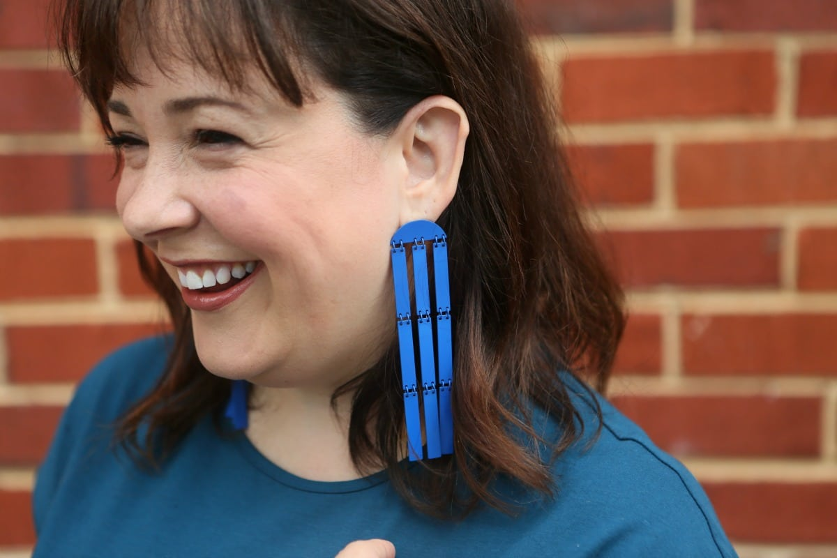 natasha enamel statement earrings blue