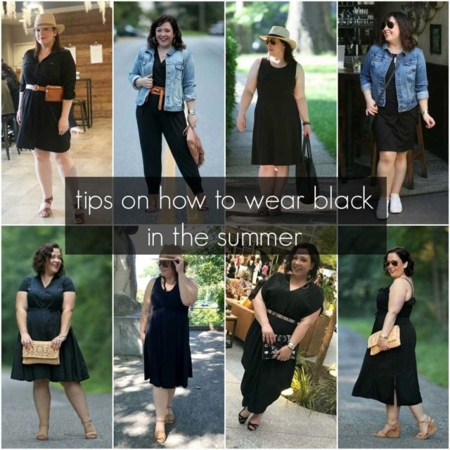 tips on how to wear black in the summer by wardrobe oxygen