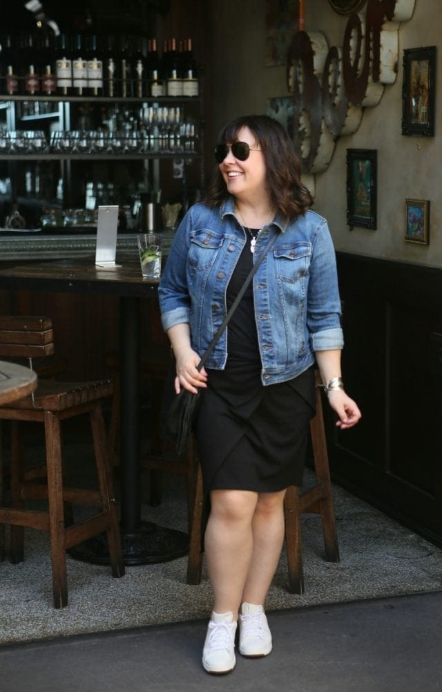 What I Wore: Trouvé Twist Front Dress featured by popular DC petite fashion blogger, Wardrobe Oxygen
