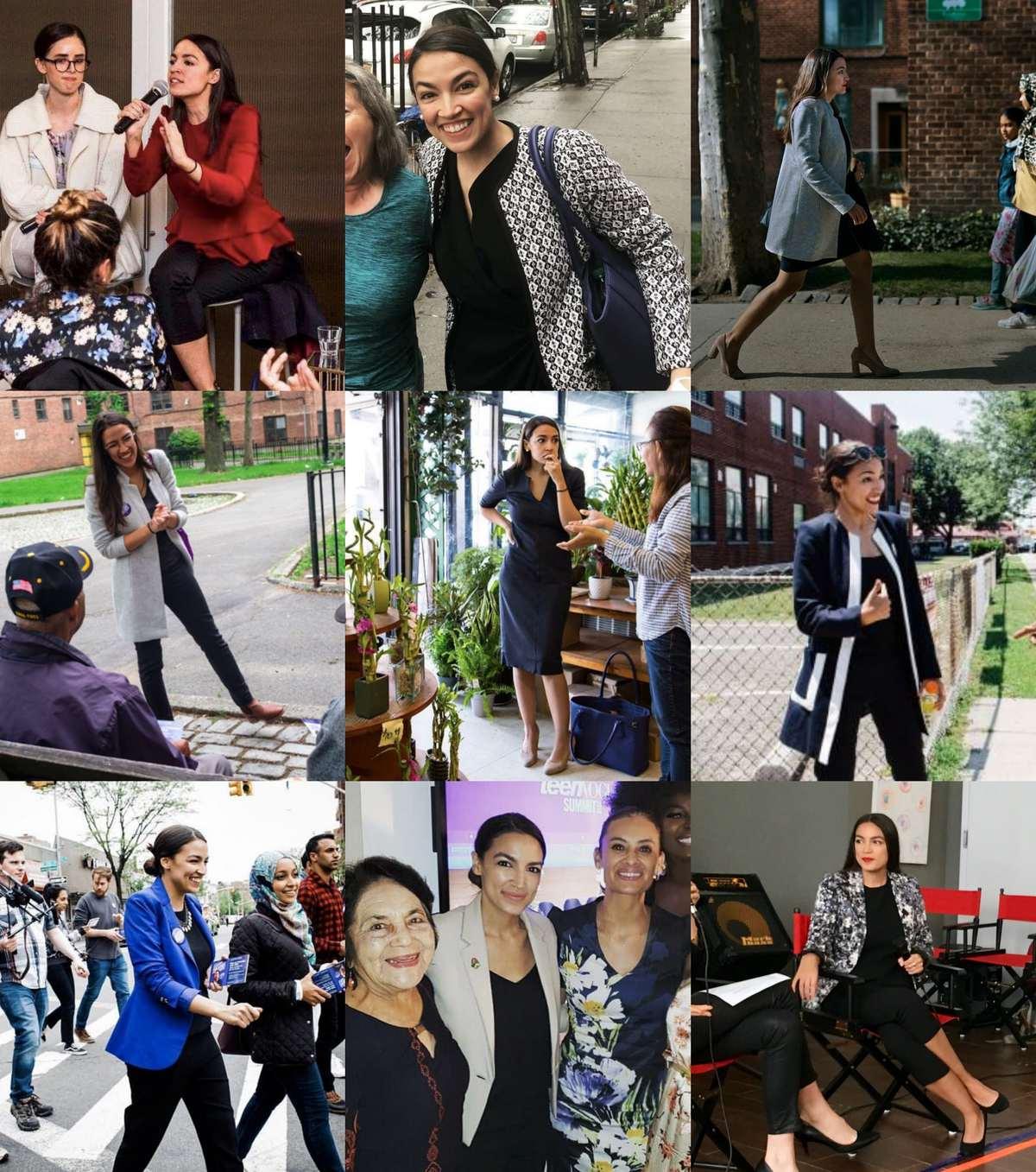 Alexandria Ocasio Cortez campaign style
